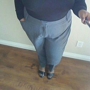 Eloquii Gray Kadi Straight Leg Trousers